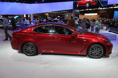 New Lexus IS-F. Lexus exposition at Chicago auto show Stock Images