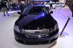 New Lexus GS 450h. Lexus exposition at Chicago auto show 2011 Stock Photo