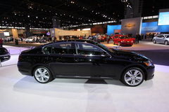 New Lexus GS 450h. Lexus exposition at Chicago auto show 2011 Royalty Free Stock Images