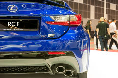 New Lexus RC-F at the Singapore Motorshow 2015 Royalty Free Stock Photos