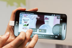 NEW LG FLEX, MOBILE WORLD CONGRESS 2014 Royalty Free Stock Photos