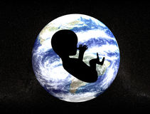 New life. Baby and planet earth Stock Illustration