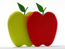 New Life. Computer generated image three dimensional shape two apples Royalty Free Stock Photo