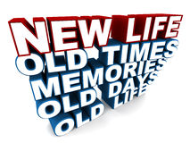 New life. Based on old times, memories, old days and old life. concept of a fresh start on a positive note Stock Photos