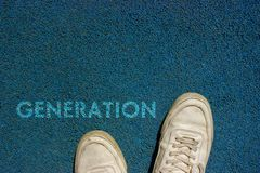 New Life Concept, Motivational Slogan with Word GENERATION on the Ground of Walk Way stock photos