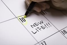 New Life on a conceptual image stock photo
