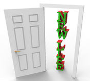 New Life Means Fresh Start And Doors Royalty Free Stock Images