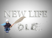 New life old life Stock Photo