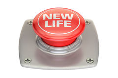 New Life Red button, 3D rendering Royalty Free Stock Photos