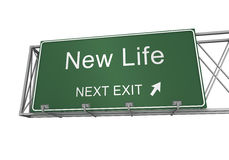New life road sign Stock Photos