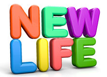 New Life. Text abstract 3D concept Royalty Free Stock Photo