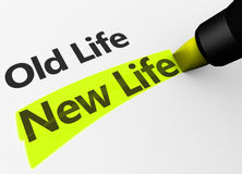 New Life Versus Old Life Concept Stock Photo