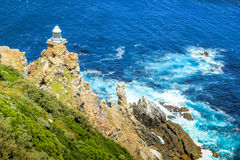 New lighthouse of Cape Point stock photos
