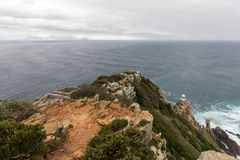 The new lighthouse of Cape Point in Cape of Good Hope Nature Reserve in Cape Peninsula, Western Cape, South Africa royalty free stock photo