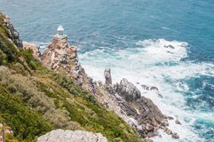 New lighthouse at Dias Point in Cape Point Royalty Free Stock Photography