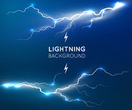 New lightning flash strike background Royalty Free Stock Photography