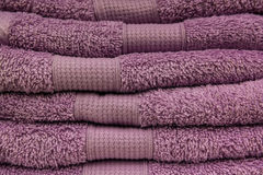 New lillac towels Stock Photography