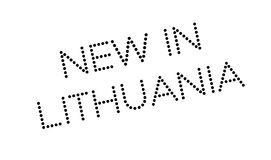 New In Lithuania rubber stamp Stock Image