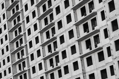 New living house facade made of gray concrete Stock Images