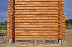 Log cabin construction Royalty Free Stock Photo