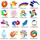 LOGOS creative 3D AND 2D Royalty Free Stock Photo