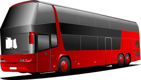 New London double Decker  red bus Royalty Free Stock Photography