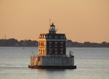 New London Ledge Lighthouse stock image