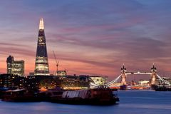 New London skyline 2013 stock photos