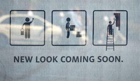 New look coming soon royalty free stock photos