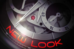 New Look on the Fashion Watch Mechanism. 3D. Stock Photo