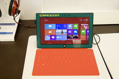 Microsoft Surface tablet royalty free stock photos