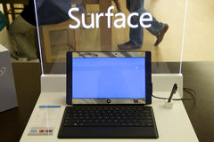 Microsoft Surface tablet royalty free stock photography