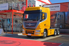 A New Artic Lorry Cab From Dongfeng Yacht Racing Team Stock Photography