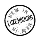 New In Luxembourg rubber stamp Stock Images