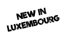 New In Luxembourg rubber stamp Stock Photo