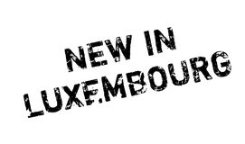 New In Luxembourg rubber stamp Royalty Free Stock Images