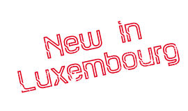 New In Luxembourg rubber stamp Royalty Free Stock Photo