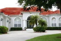 New luxurious home in tropics stock photos