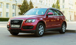 New luxury Audi Q5 parked on the street of Smolensk City. Smolensk, Russia - May 14, 2017: New luxury Audi Q5 parked on the street of Smolensk City Stock Photo