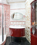 New luxury bathroom. With golden mosaic Royalty Free Stock Image
