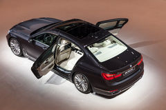 New luxury BMW 7 series saloon at the IAA 2015 Stock Photos