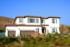 New luxury Home. New home in affluent neighborhood ready for occupancy Stock Photo