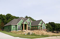 New Luxury Home Construction Stock Image