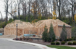 New Luxury Home Framework Stock Image