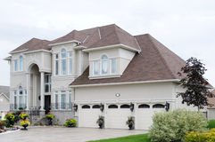 New Luxury House. With a triple garage Stock Images