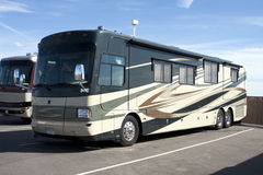 New Luxury Motor Home RV Coaches Royalty Free Stock Image