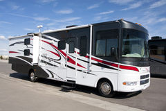 New Luxury Motorhome Coach stock image
