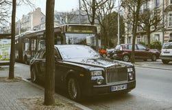 New Luxury Rolls-Royce Phantom limousine on the streets of Franc Stock Images