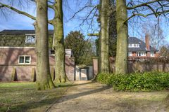The New Lyceum Monument on the Old cemetery memorial to die in Hilversum Stock Image