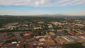 New México aéreo Santa Fe almacen de video